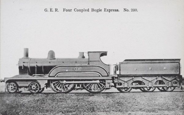 Locomotive no 230 four coupled bogie express Date