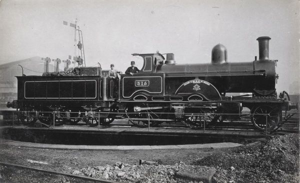 Locomotive no 315 'Alaska' built in 1884 for the L&NWR Date: 1884