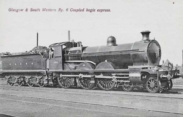 Locomotive no 386 six coupled bogie express Date