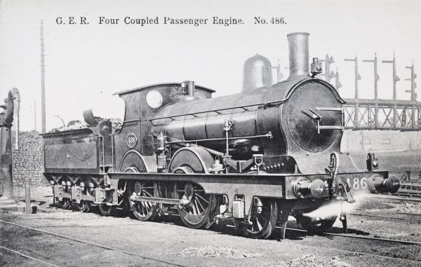 Locomotive no 486 four coupled passenger express Date