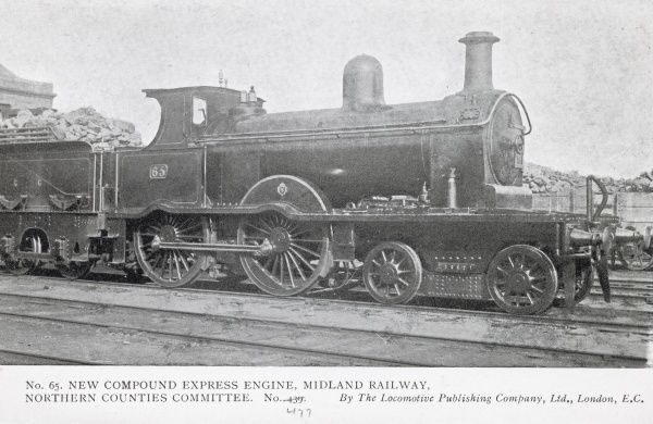 Locomotive no 65, new compound express engine, Midland Railway Northern Counties Committee Date
