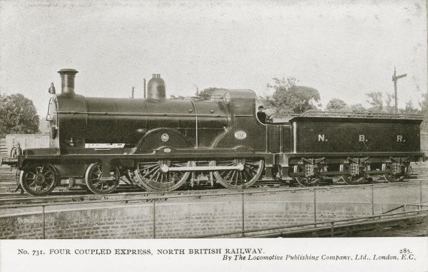 Locomotive no 731 four coupled express Date