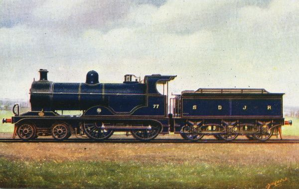 Locomotive no 77 4-4-0 express engine Date