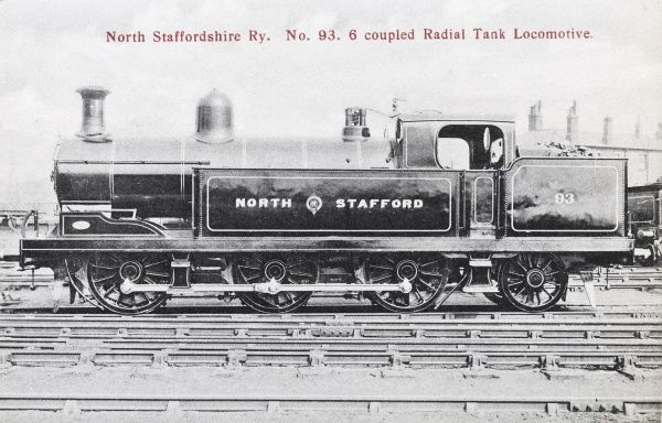 Locomotive no 93 6 coupled radial tank locomotive Date