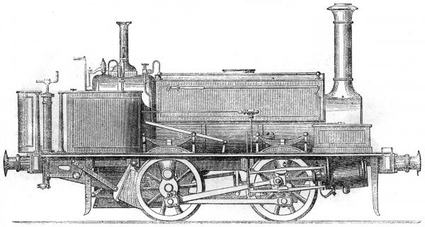Locomotive tank engine by Manning, Wardle and Co. of Leeds. Date: 1862