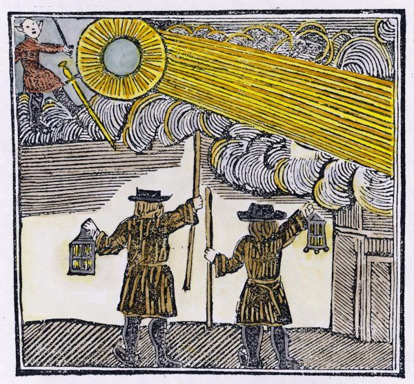 Aerial vision seen over London by two night watchmen - the 18th century equivalent of a UFO sighting by a police patrol