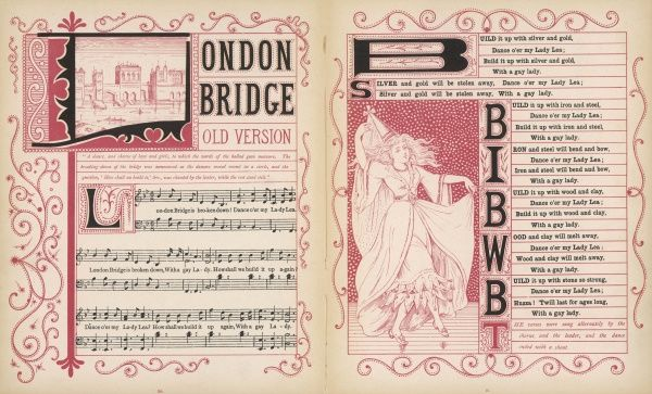 London Bridge is broken down! Dance o'er my Lady Lea.... How shall we build it up again, With a gay Lady