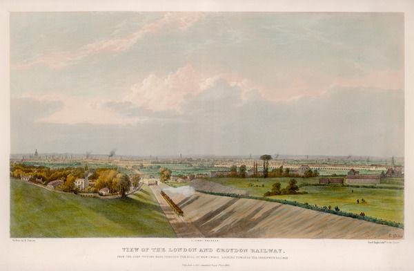 The London and Croydon Railway near New Cross : you can see the Greenwich Line in the distance, but our Library is out of sight to your right