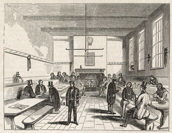 London : a model lodging house - the dining hall