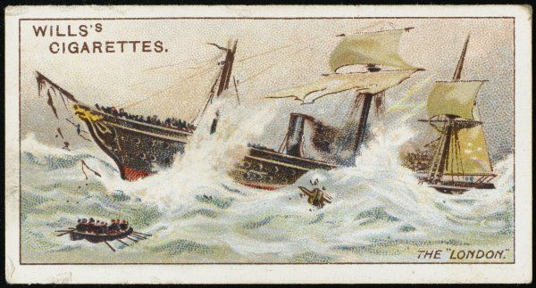 En route to Melbourne, this steamer founders in the Bay of Biscay : 220 lives are lost including the actor C V Brooke and Dr Woolley, principal of Sydney University