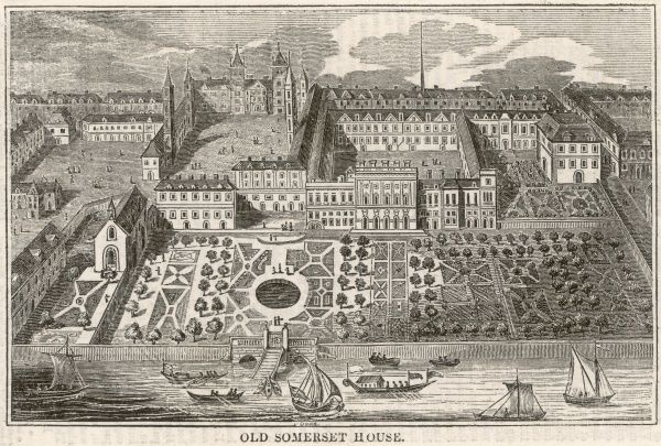 Old Somerset House, more or less as built for the Duke of Somerset in the 1550s