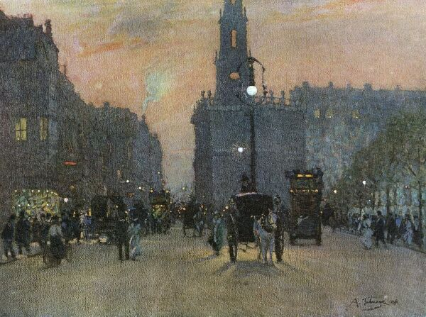 Strand at dusk. Date: 1908