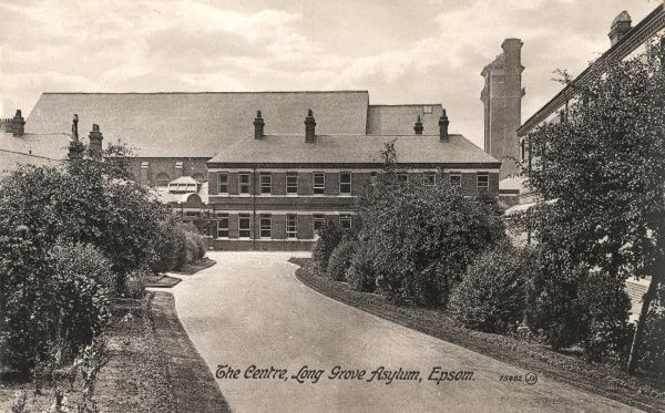The Centre at Long Grove Asylum, opened in 1907 on Horton Lane near Epsom, Surrey. Long Grove was the tenth of London's County Asylums. In 1918 it was renamed Long Grove Mental Hospital, later shortened to just Long Grove Hospital