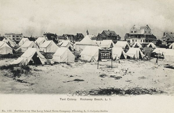 Steeplechase Camp, Tent Colony, Rockaway Beach, Long Island, New York