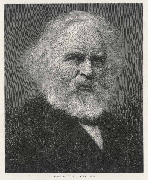 HENRY WADSWORTH LONGFELLOW American writer, best known for his 'Hiawatha' and for the line 'ships that pass in the night'... in later life