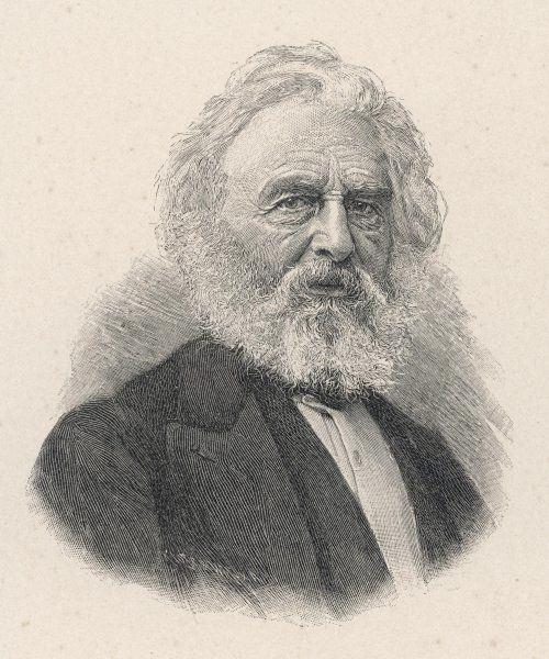 HENRY WADSWORTH LONGFELLOW American writer, best known for his 'Hiawatha' and for the line 'ships that pass in the night'... in his later years