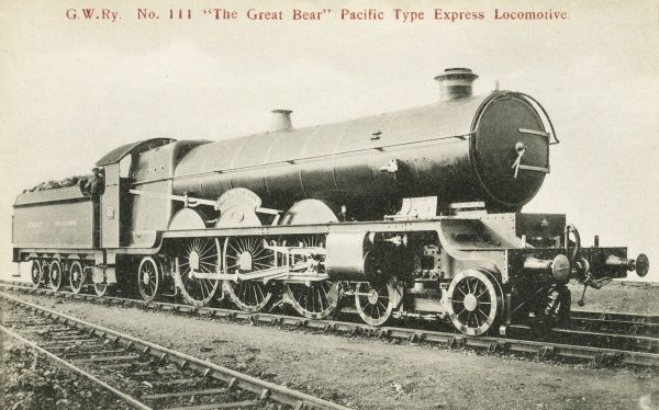 Loocmotive no 111 The Great Bear 4-6-2 express engine Date