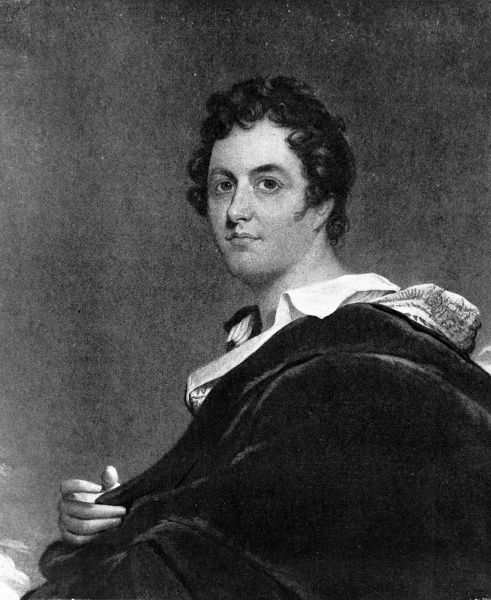 Portrait of George Gordon Byron, 6th Baron Byron of Rochdale (1788-1824), the English poet and society figure, painted when Byron was 34