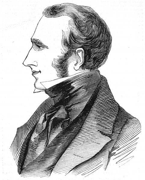 Portrait of Lord Dudley Coutts Stuart, leading advocate of Polish Independence, engraved in 1843