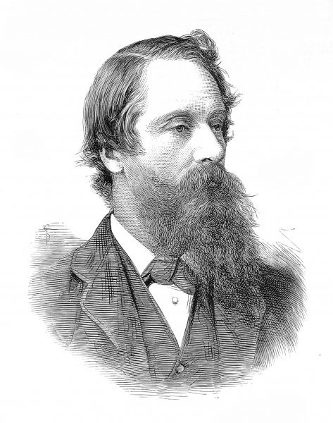 Engraving of Lord Frederick Cavendish MP, the Chief Secretary for Ireland, who was assassinated in Phoenix Park, Dublin, 1882