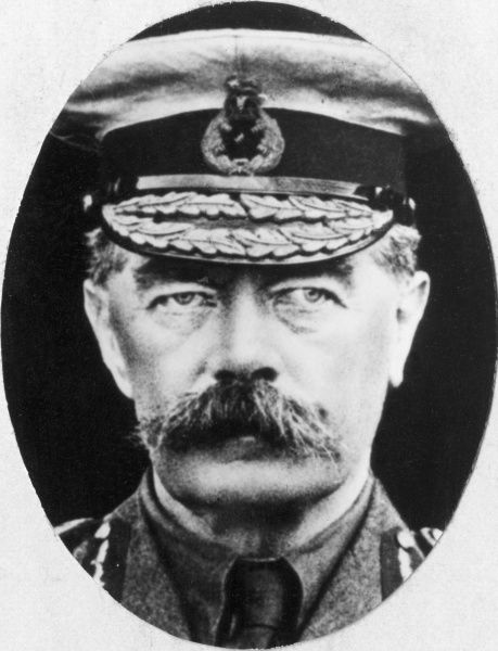 Lord Horatio Herbert Kitchener (1850-1916), appointed Secretary of State for War at the beginning of the First World War