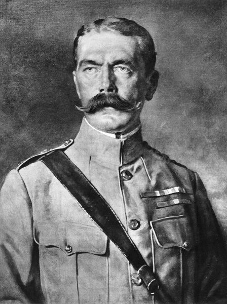 Portrait of Lord Horatio Kitchener (1850-1916), appointed Secretary of War by Herbert Asquith on the outbreak of World War I in 1914