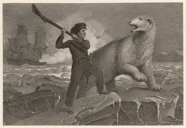 HORATIO, LORD NELSON English naval officer's encounter with a fierce polar bear