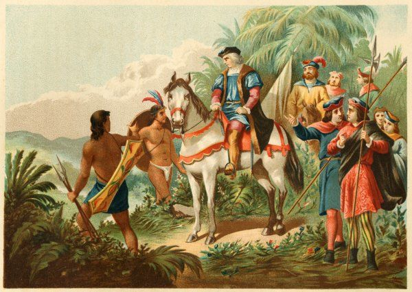 Columbus' expedition to the 'Montanas del Oro' in quest of gold