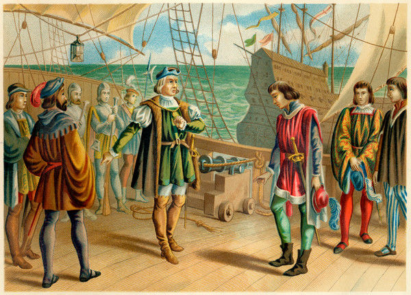 Columbus refuses to take orders from the Portuguese admiral