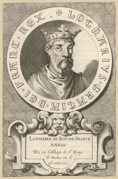 LOTHAIRE, KING OF FRANCE son of Louis IV Date: 941 - 986
