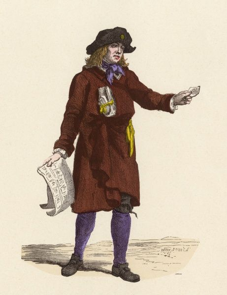 A Parisian lottery ticket seller Date: 1774