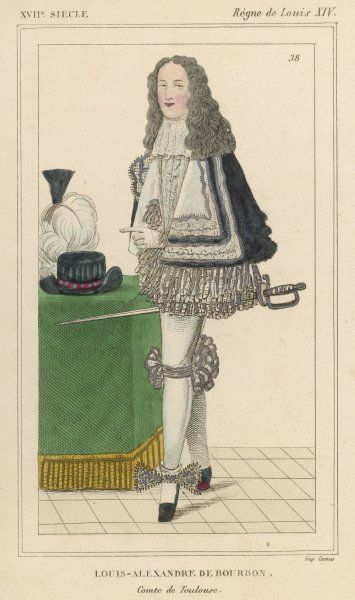 LOUIS-ALEXANDRE DE BOURBON French soldier and son of Louis XIV