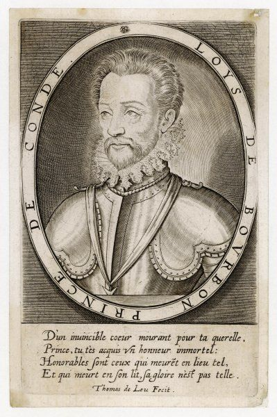 LOUIS I de BOURBON 1st Prince de CONDE French Huguenot leader of the Protestants