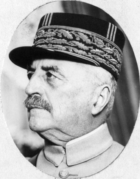 Louis Felix Marie Francois Franchet d'Esperey (1856-1942), French Army General during the First World War. He was made a Marshal of France in 1921. Date: circa 1918
