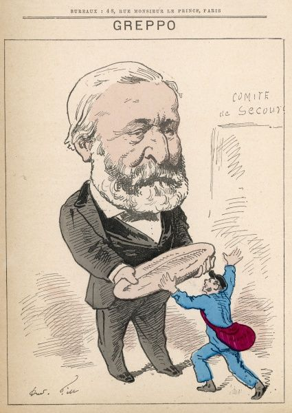 Louis Greppo (1810-1888) exiled under the Second Empire, Mayor of the 4th arrondissement of Paris during the siege and effectively organizes the supply of food