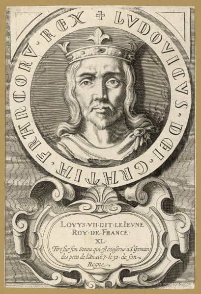 LOUIS VII LE JEUNE king of France, rival of Henry II of England