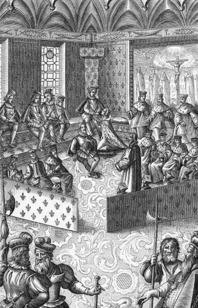 Louis is declared by Parlement to be of age : his mother the rapacious and devious Marie de Medicis, who has ruled as his governor, now has to take a back seat. Date: October 1614