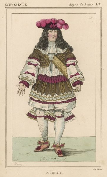 LOUIS XIV French monarch (picture dated 1670)