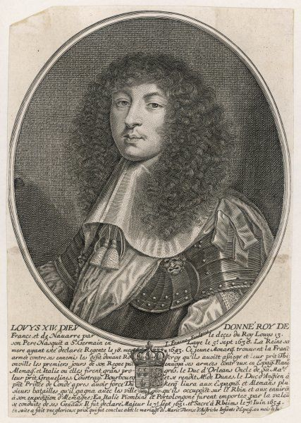 Louis XIV (1638-1715), King of France and of Navarre (reigned 1643-1715), known as the Sun King (Le Roi Soleil)