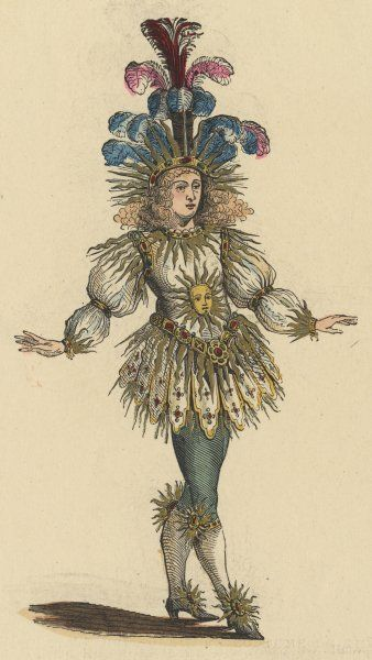 LOUIS XIV, KING OF FRANCE in theatre costume as 'Le Roi Soleil' (the Sun King)