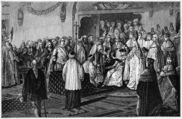 The 20-year old Louis XVI takes his coronation oath