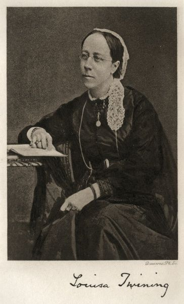 A portrait of Louisa Twining from 1868. She became a campaigner for improvement in conditions for workhouse inmates and founded the Workhouse Visiting Society. Date: 1869