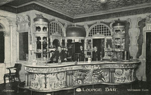Lounge Bar, Veterans Club (aka the Victory Services Club), Hand Court, Holborn, London