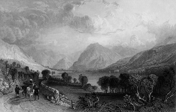 Lowes Water, Cumbria, viewed from Water End Date: circa 1830