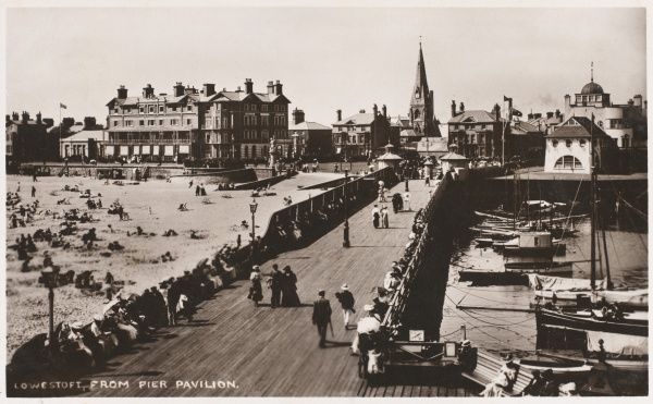 Lowestoft, Suffolk: a view from the pier pavilion