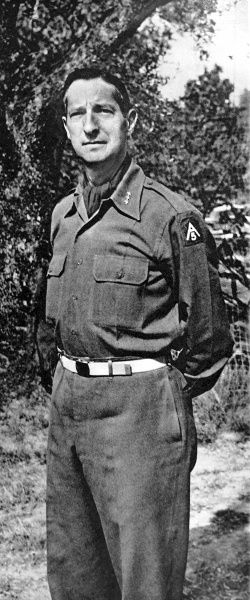 Photographic portrait of Lieutenant-General Mark Clark, then Commander of the Fifth Army in Italy, Second World War, 1944