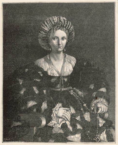 LUCREZIA BORGIA - Duchess of Ferrara and patron of the arts and education