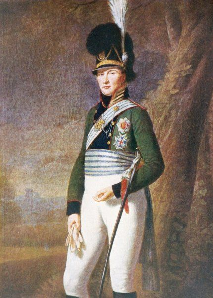 LUDWIG I OF BAVARIA In military dress