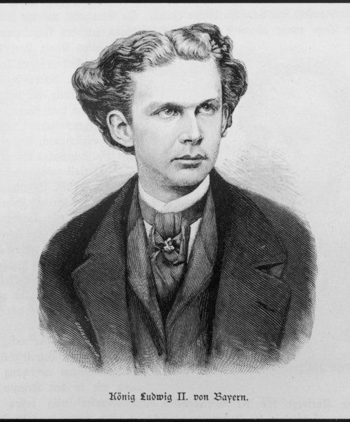 KING LUDWIG II OF BAVARIA As a young man - he reigned from March 1864 until June 1886
