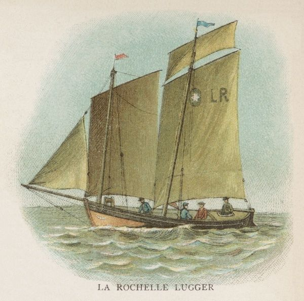 Lugger used by the fishermen of La Rochelle